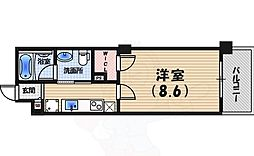 阪神本線 鳴尾・武庫川女子大前駅 徒歩9分の賃貸マンション 3階1Kの間取り
