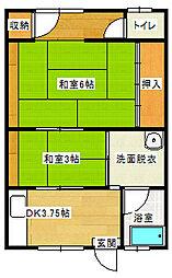 コーポ高川[102号室]の間取り