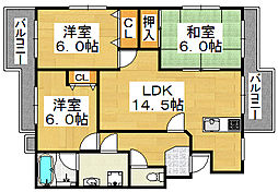 メゾン・アルル[2階]の間取り