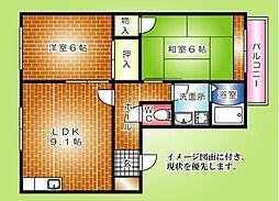 フレグランス高須[103号室]の間取り