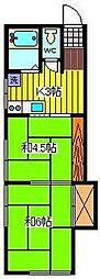 伊達コーポ[1階]の間取り