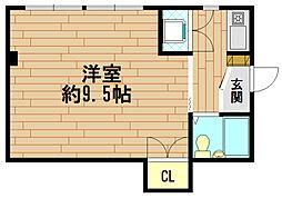 兵庫県神戸市北区鈴蘭台南町6丁目の賃貸マンションの間取り