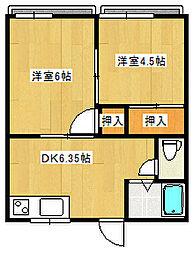 国信アパート[202号室]の間取り