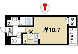 奈良県奈良市西木辻町の賃貸アパートの間取り