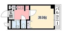 エスタシオン甲子園口[3階]の間取り
