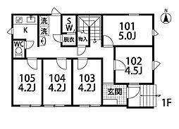 with-style 松戸[204号室]の間取り