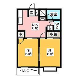 カーサ壱番館[2階]の間取り