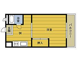 福岡県福岡市東区下原4丁目の賃貸マンションの間取り