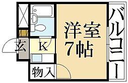 ハイツ葵[3階]の間取り