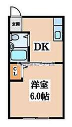 タバタマンション[1階]の間取り