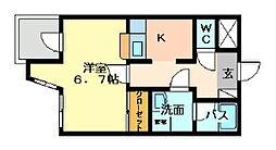 アドバンス M−1[204号室]の間取り