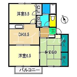 リバティハウス(塚ノ原)[2階]の間取り