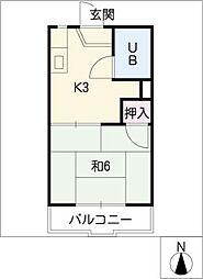 ドミール橋本[1階]の間取り