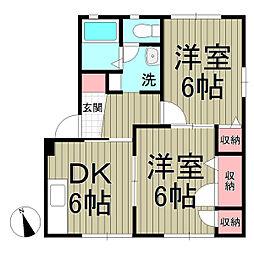 ジュピテ鎌倉[102号室]の間取り