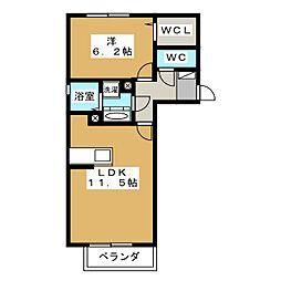 ウィンザー ベル[1階]の間取り