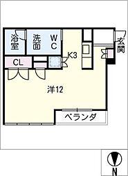 桜ヒルズ[4階]の間取り