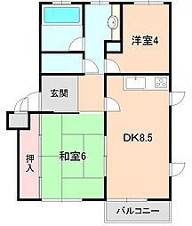 ハウス豊中 B棟[202号室]の間取り