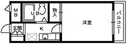 フルレゾン鳳[3階]の間取り