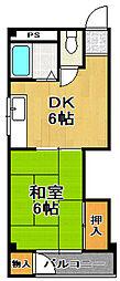 廣瀬ハイツ[4階]の間取り