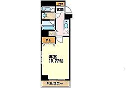 横浜市営地下鉄ブルーライン センター南駅 徒歩2分の賃貸マンション 7階1Kの間取り