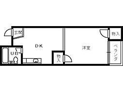 カーサ宿院[402号室]の間取り