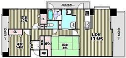 アスティオ和泉中央 B棟[10階]の間取り