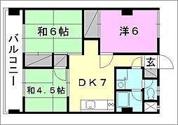 コンフォート桜 6[602 号室号室]の間取り