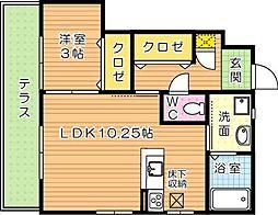 Casa Deli(カーサデリ)[1階]の間取り