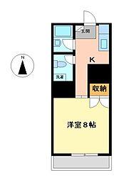 メゾン ラ・テール[2階]の間取り