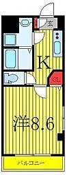 JR埼京線 板橋駅 徒歩2分の賃貸マンション 2階1Kの間取り