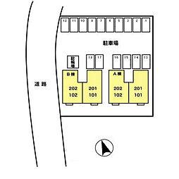 パルコートI B[1階]の外観