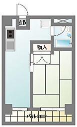 椎山マンション[206号室]の間取り