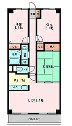 シーガル大森東[3階]の間取り