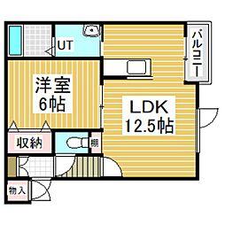 レインボーハウスフラッター[3階]の間取り