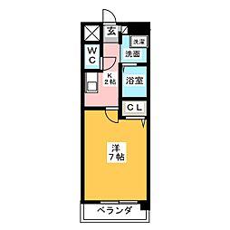 ハイツ・メグ[3階]の間取り