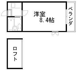 シャルマンフジ羽倉崎[203号室]の間取り
