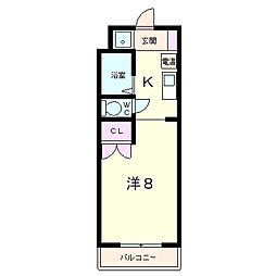 コーポ吉井[2階]の間取り