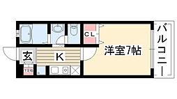 愛知県名古屋市守山区小幡1丁目の賃貸マンションの間取り