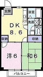 ニュ−シティ和田山[0202号室]の間取り
