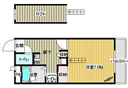 レオパレス桜井壱番館[2階]の間取り
