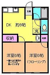 長崎ハイム5号棟[1階]の間取り