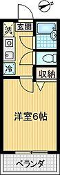 コスモライト[302号室]の間取り