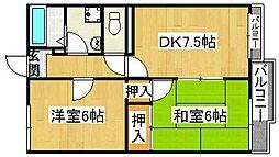 ファミール2号棟[2階]の間取り