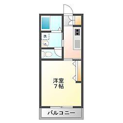 埼玉県富士見市東みずほ台1丁目の賃貸アパートの間取り
