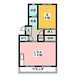 ドマーニ・J[5階]の間取り
