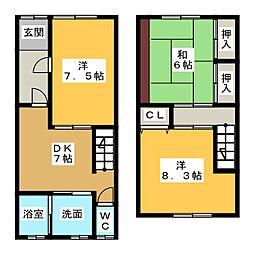 [一戸建] 愛知県津島市本町5丁目 の賃貸【/】の間取り