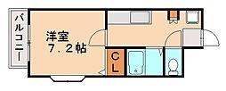ホワイトシャト−大橋7番館[4階]の間取り