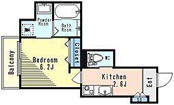都営浅草線 戸越駅 徒歩5分の賃貸マンション 1階1Kの間取り
