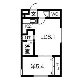 北海道札幌市白石区菊水五条1丁目の賃貸マンションの間取り