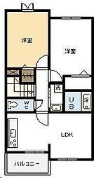 メゾンAnge[B201号室]の間取り